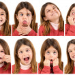 Funny faces — Foto Stock
