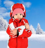 Girl in winter — Stock Photo
