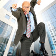 Jumping businessman — Stock Photo