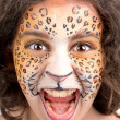 Face painting, leopard — Foto Stock