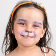 Face painting, kitten — Stock Photo