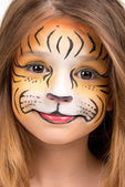 Face painting tiger — Stock Photo