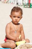 Baby in the beach — Stock fotografie