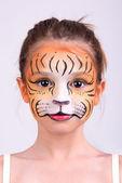 Gesicht malen tiger — Stockfoto