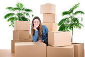 Unpacking — Stockfoto