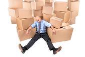 Tired businessman — Stock Photo