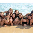 Teens at the beach — Stock Photo