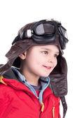 Young boy aviator — Stockfoto