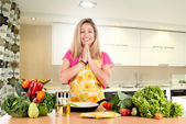 Woman cooking — Foto Stock