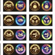 Royalty-Free Stock Vector Image: Medals for children\'s parties