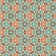 Seamless retro geometric pattern. — Stock Vector