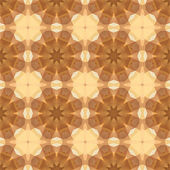 Kaleidoscope abstract gold pattern — Stock Vector