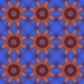 Kaleidoscope abstract blue pattern — Stock Vector