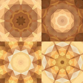 Kaleidoscope abstract colorful patterns set — Stock Vector