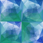 Green Blue Abstract Triangular Backgrounds Set — Stock Vector