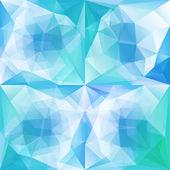 グリーン ブルー抽象的な三角形の背景のセット — ストックベクタ