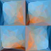 Blue Pink Abstract Triangular Backgrounds Set — Vettoriale Stock