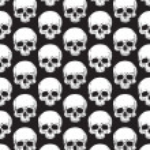 patrón de cráneo — Vector de stock