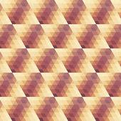 Beżowy wzór geometryczny fiołek. — Wektor stockowy