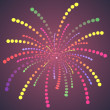Simple Colorful Dots Fireworks. — Stock Vector