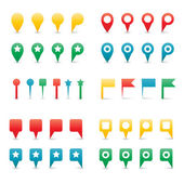 Colorful Map Pins. — Vettoriale Stock