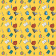 Colorful Textile School Pattern. — Imagen vectorial