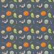 Colorful Textile Halloween Fun Pattern. — Stock Vector