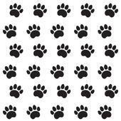 Traces du motif textile chat — Vecteur