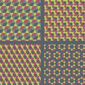 Geometric Textile Pattern Set. — Stock Vector
