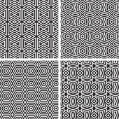 Geometrische ornamenten patroon set. — Stockvector