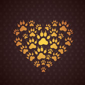 Heart of The Dog Traces. — Stock Vector