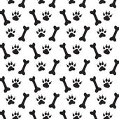 Köpek izleri. — Stok Vektör