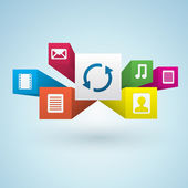 Multimedia Design Elements — Stock Vector