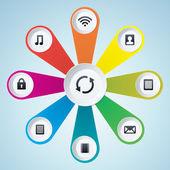 Multimedia designelement — Stockvektor