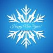 Blue Paper Snowflake Postcard. — Stock Vector