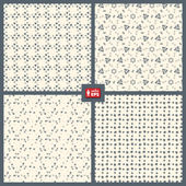 Dotted Patterns Set. — Stock Vector