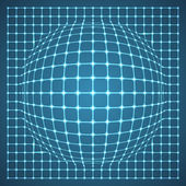 Illuminated Grid Sphere. — Stock Vector