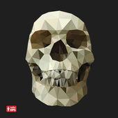三角形のスタイルでの人間の頭蓋骨. — ストックベクタ