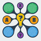 Metaball infographic elements — Stockvector