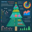 Christmas Infographic Elements — Stock Vector