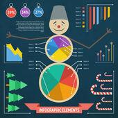 Vánoční infographic prvky — Stock vektor