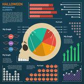 Halloween infographik elemente — Stockvektor