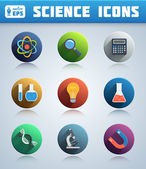 Circle Science Icons Pack — Stockvector