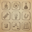 Science Icons Sketch — Stock Vector