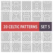 Celtic Patterns Set — Stock Vector