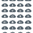 Simple Flat Clouds Icon Set. — Stock Photo