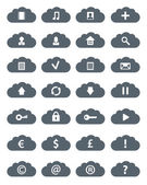 Conjunto de iconos simples nubes planas. — Foto de Stock