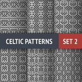 Celtic Patterns Set — Stock Vector