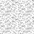 Valentines Seamless Background — Vector de stock