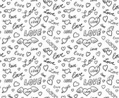 Valentines Seamless Background — Stock Vector